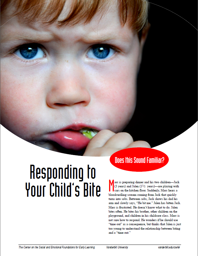 Image - responding to your child's bite article cover