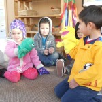 Using puppets during circle